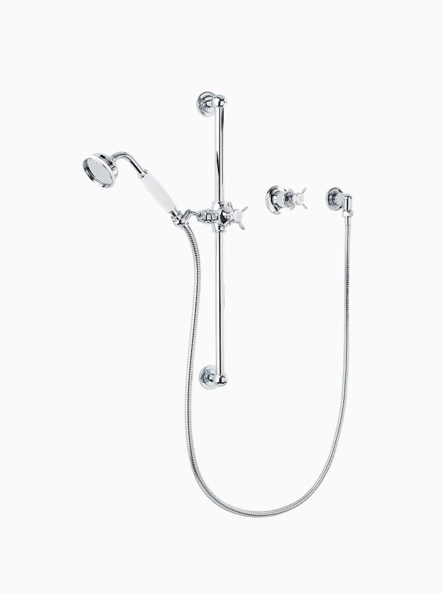 Albany hand shower, slider rail and flow control valve