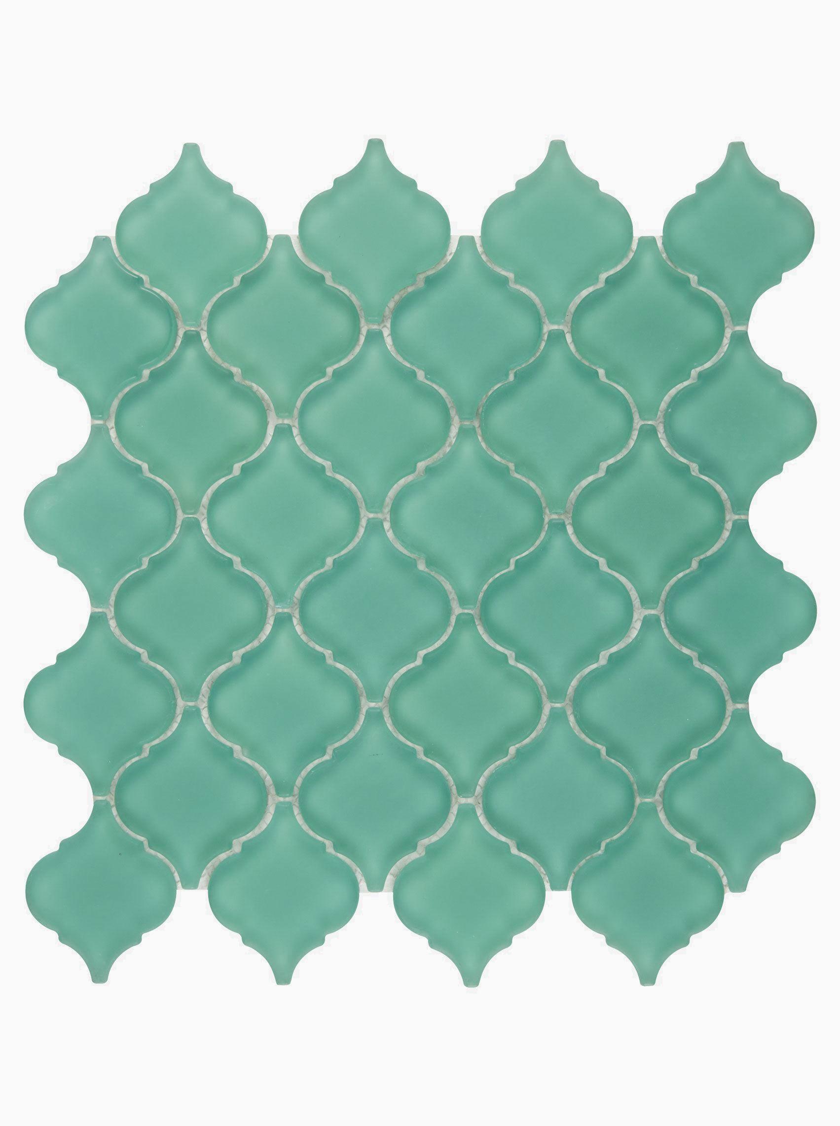 Byzantine Emerald Arabesque Mosaic