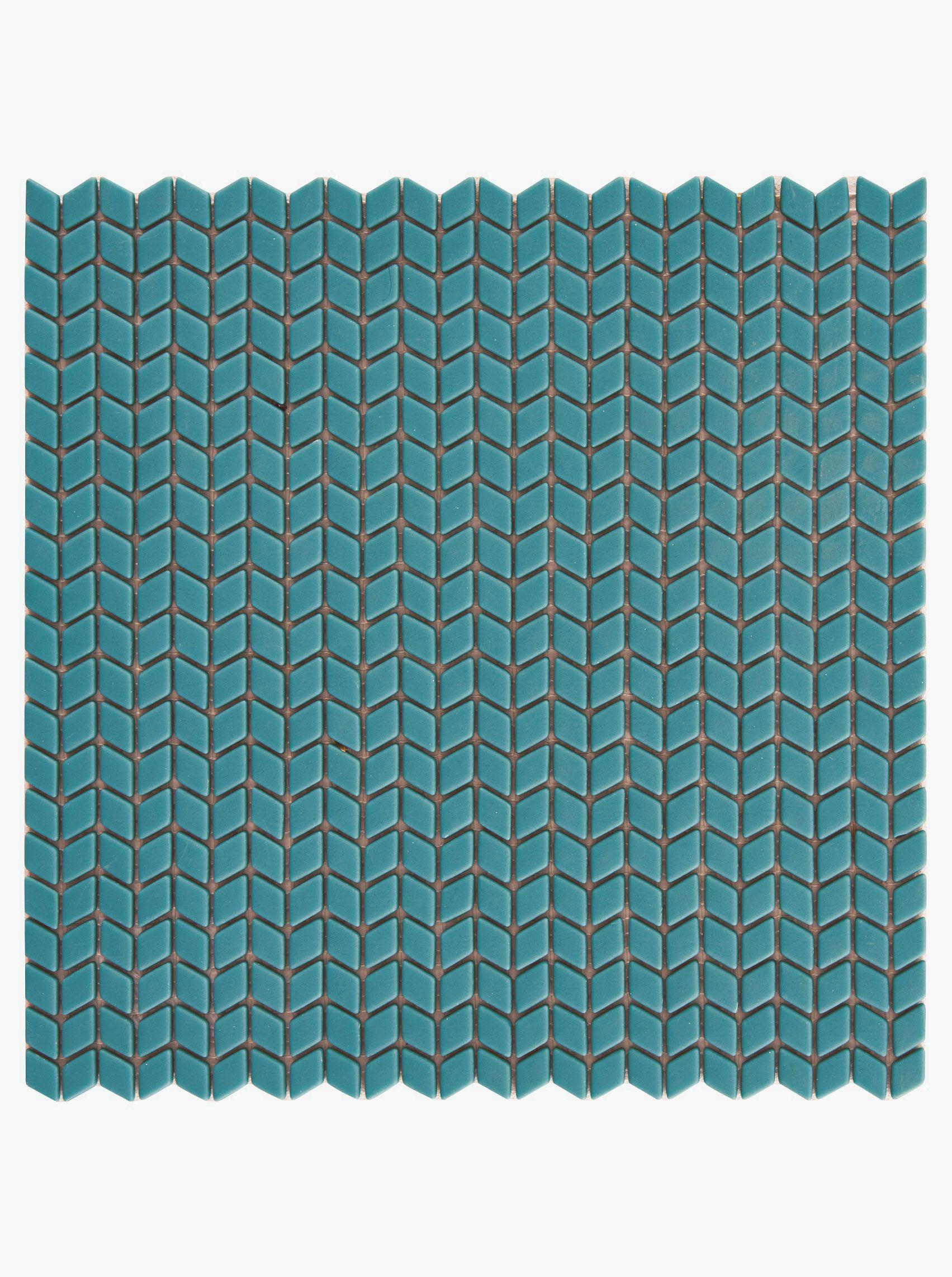 Confiserie Teal Chevron Mosaic