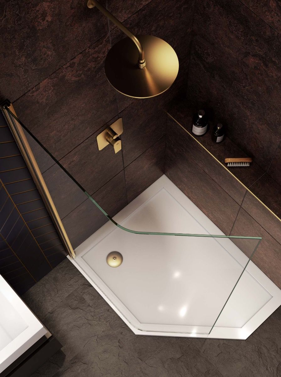 Curved Glass - Frameless Panel - Right Hand