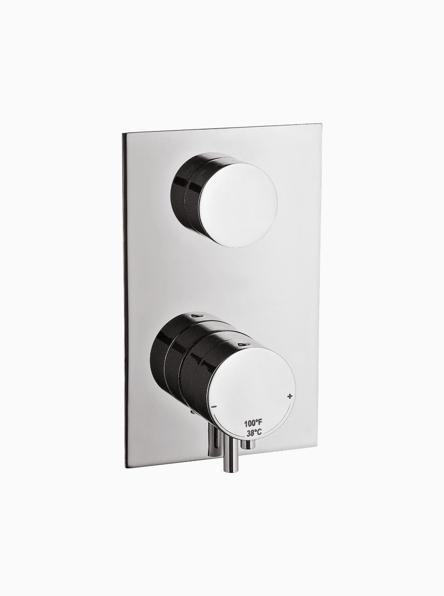 Midtown 2 Way Thermostatic Concealed Shower with levers