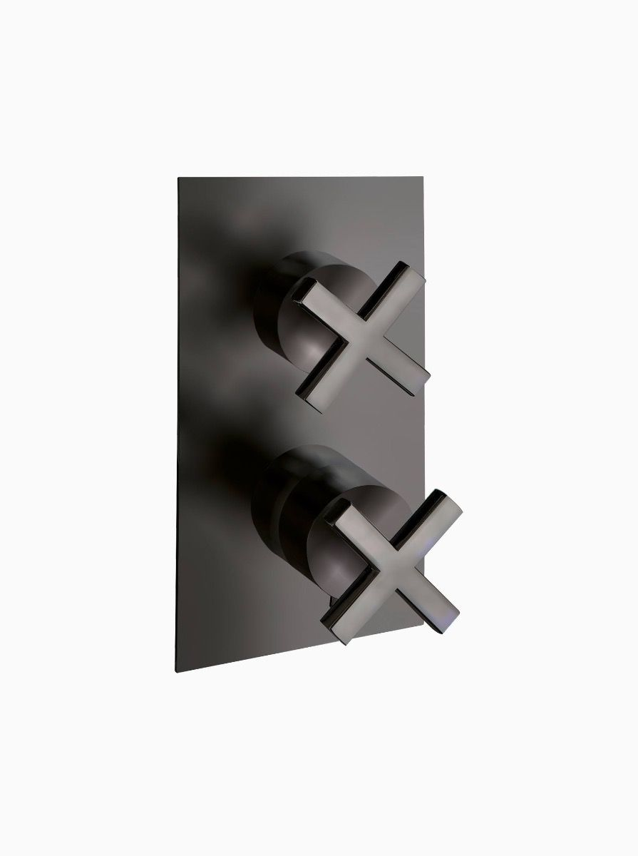 Midtown 2 Way Thermostatic Concealed Shower with cross heads