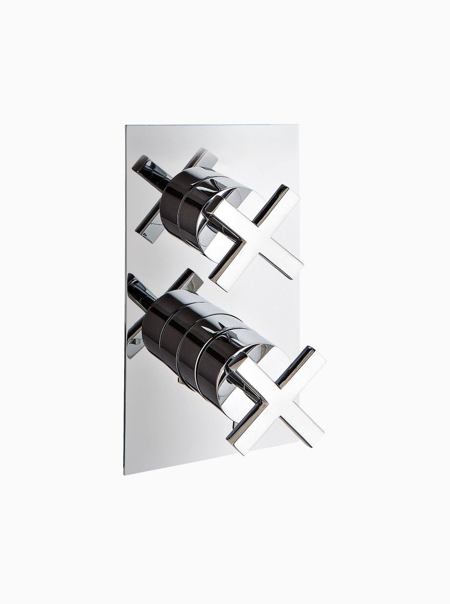 Midtown 3 Way Thermostatic Concealed Shower with cross heads