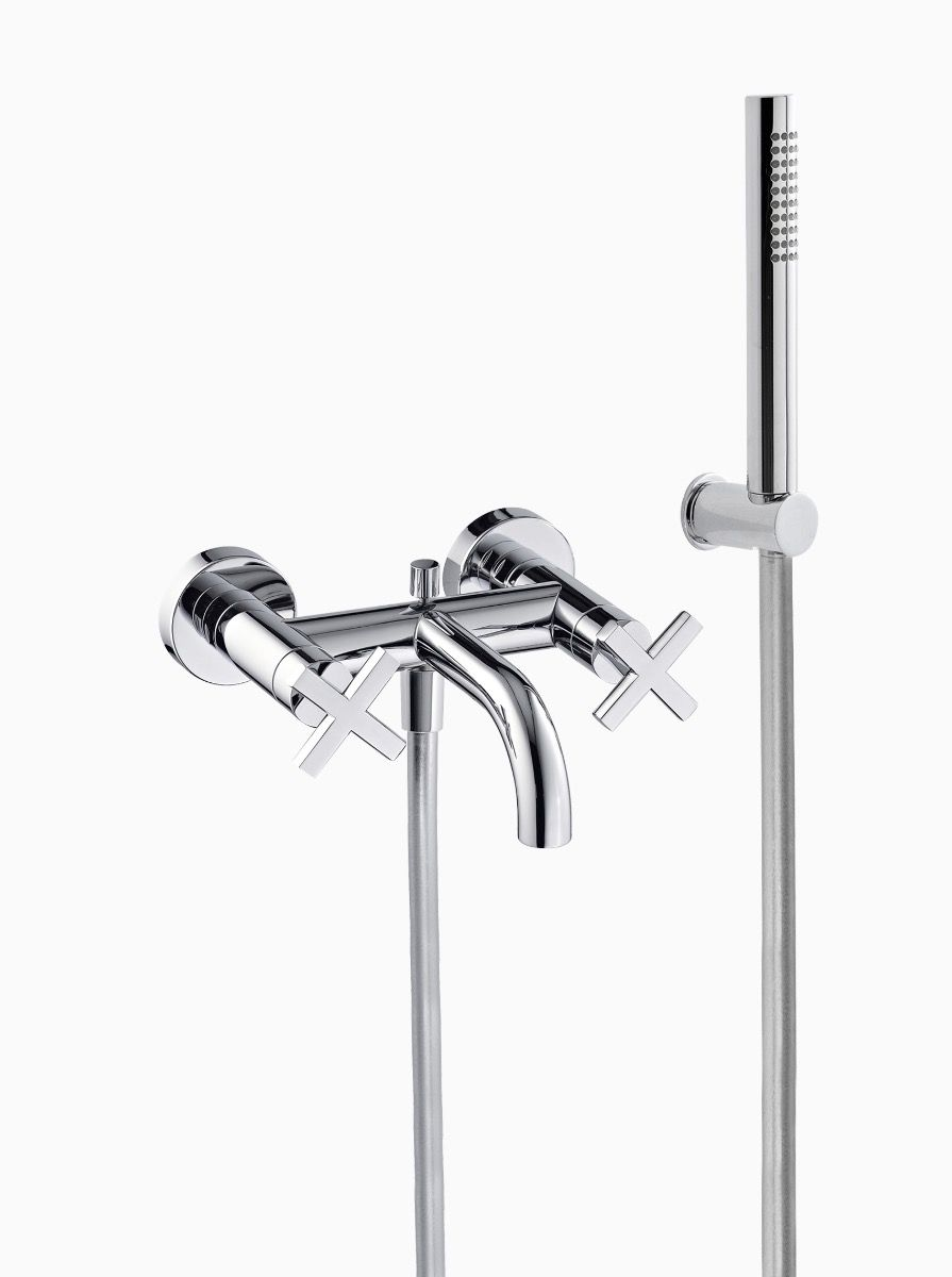 Midtown Wall Mounted Bath/Shower Mixer with cross heads