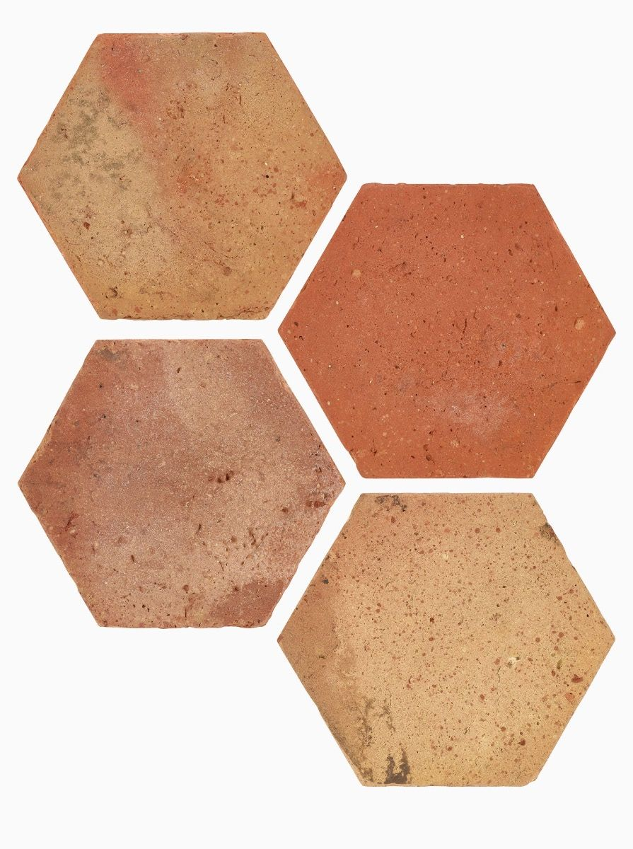 Reclaimed Terracotta Hexagon 15x15
