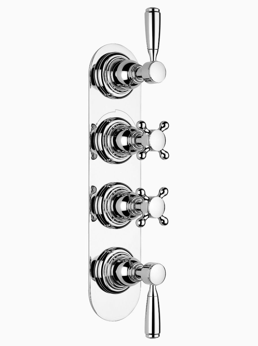 Brooklyn concealed thermostatic shower - 3 outlet
