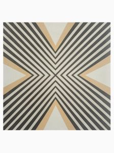 Vintage Vibes Terry 15 x 15cm Porcelain Floor and Wall Tile with Decorative Pattern