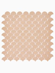 Xanadu Salmon glass mosaic for floors and walls