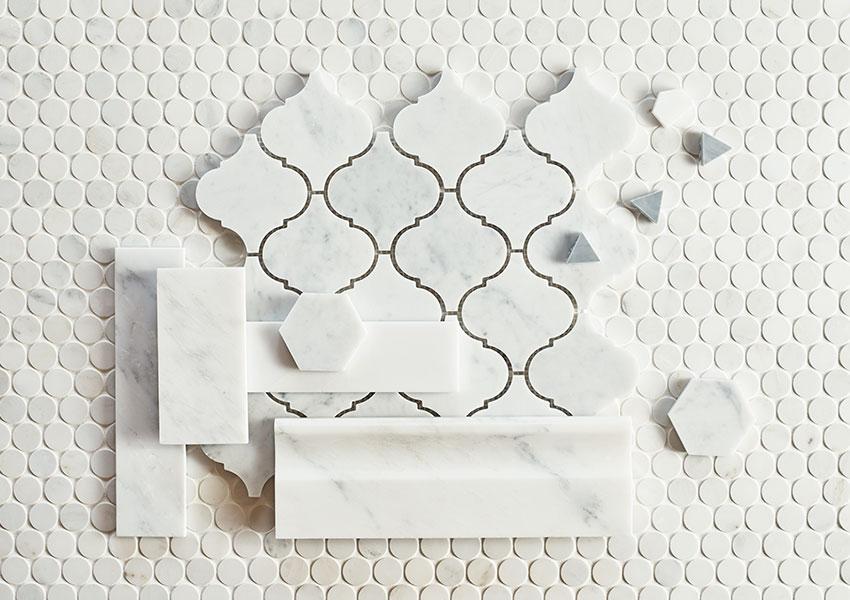 Marble Tiles Flatlay